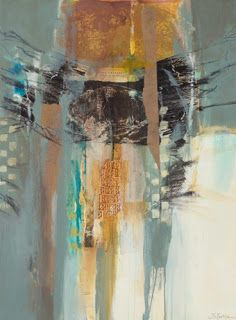 "Contemporary Intuitive Abstract Painting ""Primal Messages"" by Intuitive Artist Joan Fullerton"