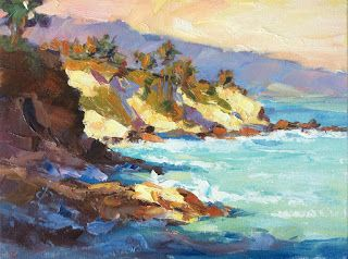 CALIFORNIA IMPRESSIONIST COASTAL SEASCAPE by TOM BROWN