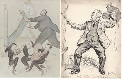 Cartoons Portraying John S. Sargent