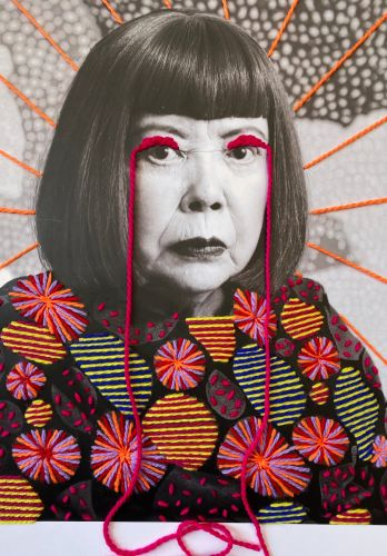 Colorful, Geometric Stitches Embolden Black-and-White Photographs of Historical Figures and Cultural Icons
