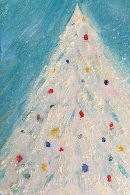 """Holiday Art, """"White Christmas,"""" by Amy Whitehouse"""