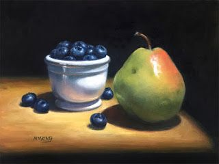 Pear and Blueberries