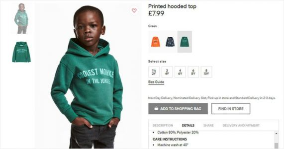 H&M Slammed for Photo of Black Boy in 'Monkey' Hoodie, Mom Hits Back