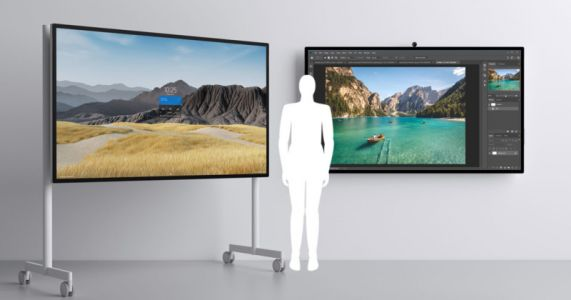 Microsoft Surface Hub 2S is a $22,000 85-Inch Touchscreen That Runs Photoshop
