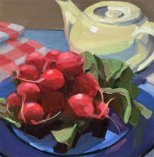 Radishes and White Teapot