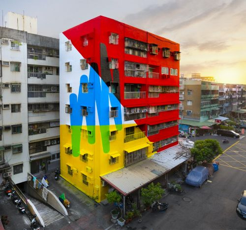 Muralist Elian Chali Envelopes Building Facades in Enormous Abstract Fields of Color