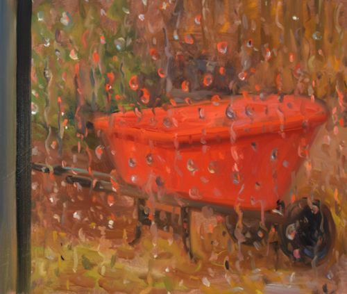 Red Wheelbarrow ini the Rain