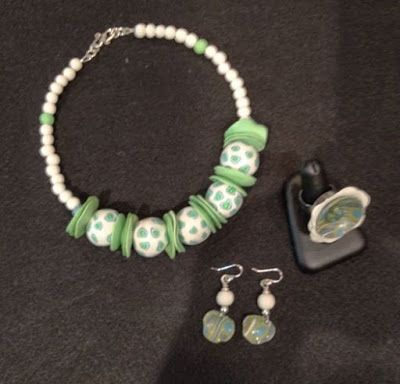 """Polymer Clay Jewelry,Necklace, Earrings , Ring """"SUMMER JEWELRY LINE"""