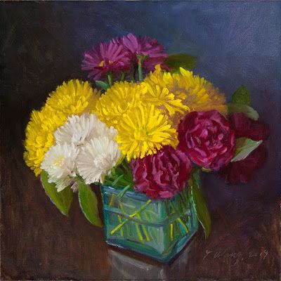 Mums flower flora painting a day