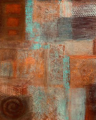 "Original Contemporary Abstract Painting ""No Zone"" by Contemporary Arizona Artist Pat Stacy"