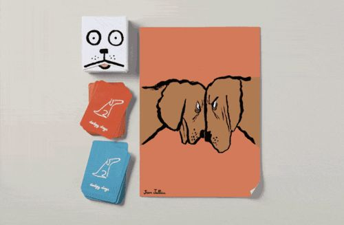Dodgy Dogs Chase, Beg, and Bark Their Way to the Top in a Humorous Card Game Illustrated by Jean Jullien