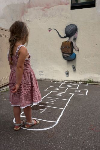 New Installations by Seth Globepainter Explore the Innocence and Wonder of Childhood