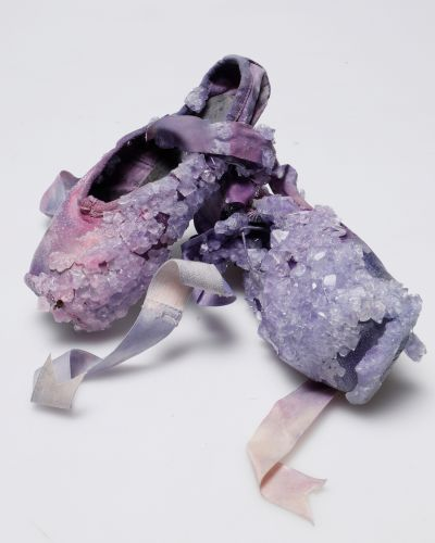 Crystallized Ballet Slippers and Soccer Cleats by Alice Potts