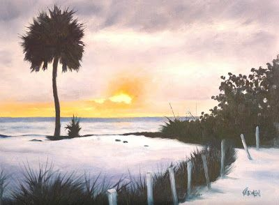North Captiva Sunset, 9x12 Oil Painting on Canvas Panel, Seascape