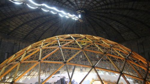 This Wooden Geodesic Dome Contains the World's Largest Planetarium
