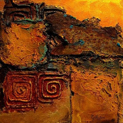 "Contemporary Mixed Media Abstract Painting ""Southern Relic"