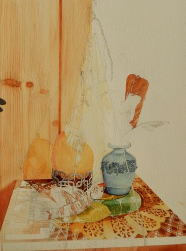 Watercolor of Golden Pear Continued