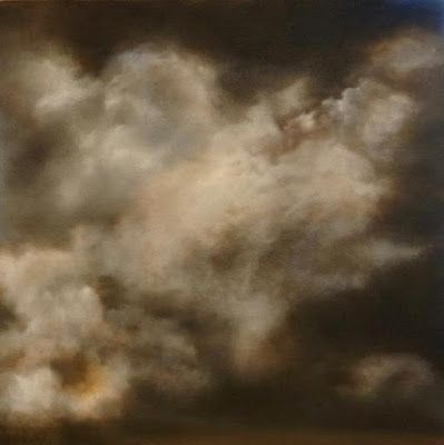 "Skyscape Painting, Clouds, Fine Art Oil Painting ""Impending"" by California Artist Cecelia Catherine Rappaport"