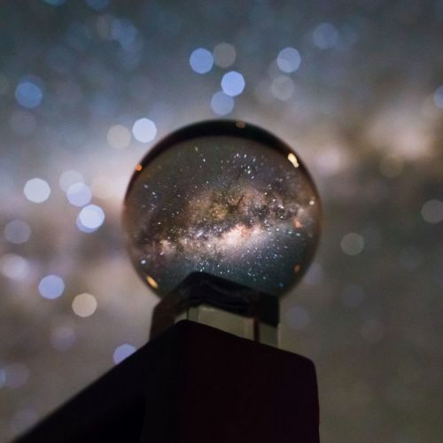 This is the Milky Way Photographed in a Crystal Ball