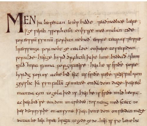 The total sum of existing manuscripts in Old English