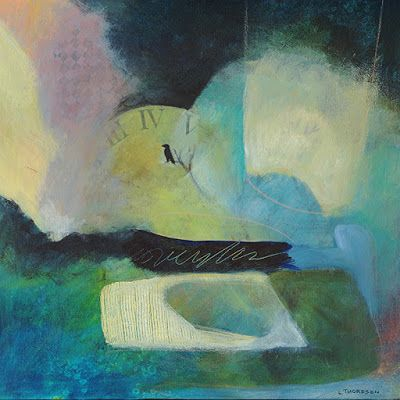 """Contemporary Art, Abstract Painting, Expressionism, Mixed Media, """"A MOMENT IN TIME"""" by Contemporary Artist Liz Thoresen"""