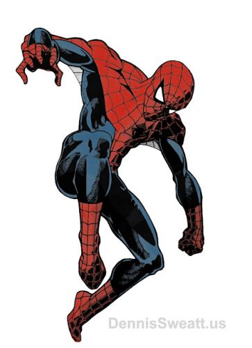 Spider-Man Art Colored