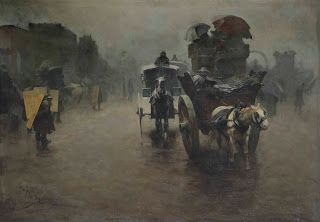 Pieter de Josselin de Jong, London: carriages in the mist