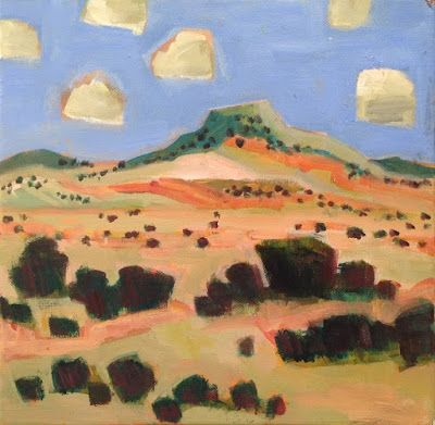 "Santa Fe Landscape Painting ""PEDERNAL GHOST RANCH"" by Santa Fe Artist Annie O'Brien Gonzales"