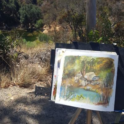 Trout Cove en plein air with Inland Painters