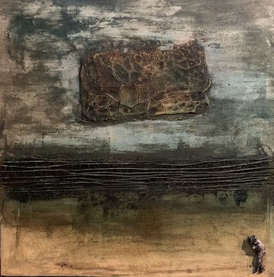 """Contemporary Painting, Mixed Media Art, """"WHAT IS NEXT"""" by Florida Contemporary Artist Mary Ann Ziegler"""