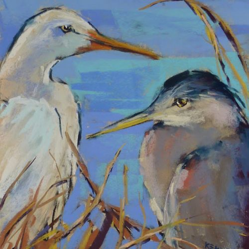 Behind the Scenes: Painting a Heron and Egret