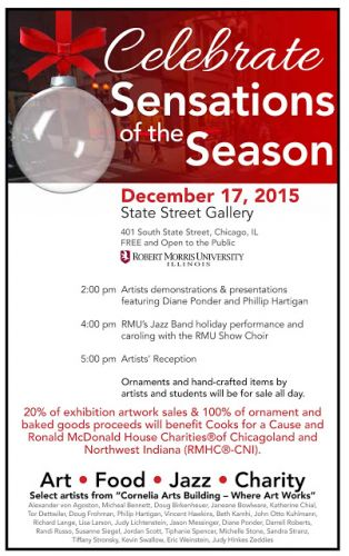 Dec 17 - Closing Fundraising Reception and Party for Cornelia Arts Bldg Artists in the Loop