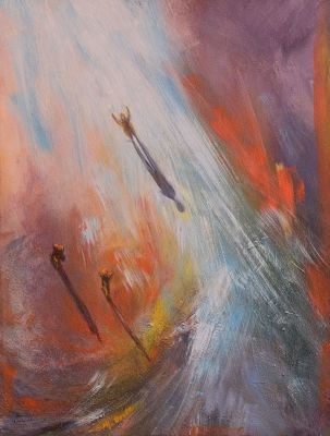 """Original Contemporary Abstract Figure Painting """"They Said Ada Couldn't Do It"""" by Colorado Artist Nancee Jean Busse"""