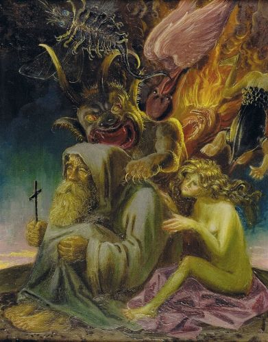 Otto Dix - The Temptation of Saint Anthony, 1937 - 40