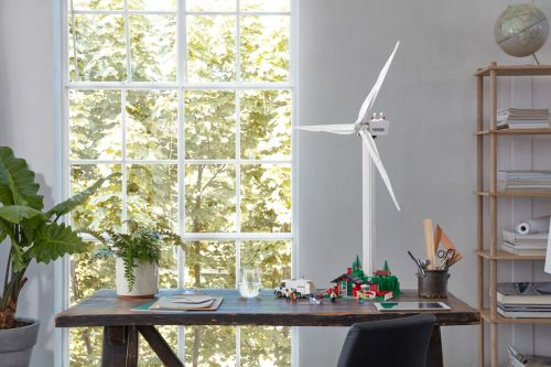 LEGO Launches a Rotating Wind Turbine with Trees Made From Plant-Based Plastic