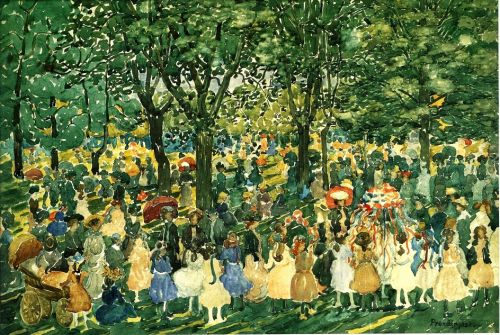 20C SPRING Celebration in Central Park by Maurice Prendergast (1858-1924)