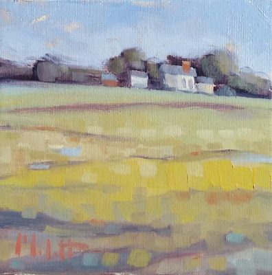 Landscape Oil Painting Country Farmhouse Heidi Malott Art