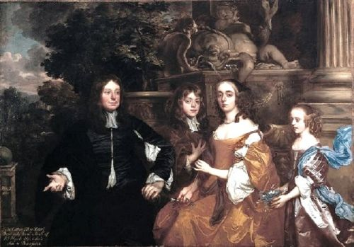 The 17C Family Portrayed by a Garden Statue