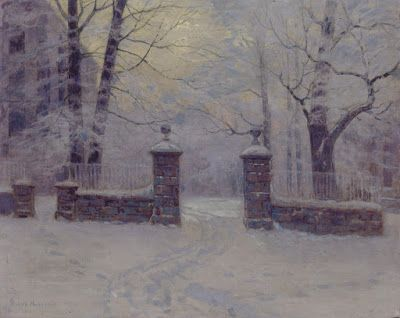 Lovell Birge Harrison, Cathedral Gates in Winter