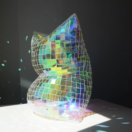 Slumped Plexiglass Pillows by Colin Roberts Refract Light like Dazzling Disco Balls