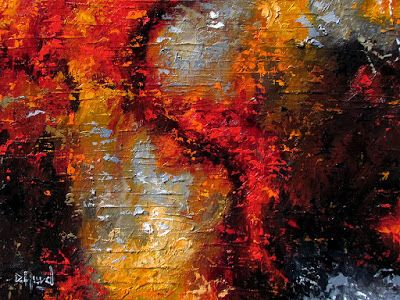 """Abstract Oil Painting, Expressionism, Contemporary Art for Sale, """"Adversity"""" by Texas Artist Debra Hurd"""