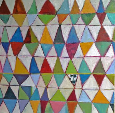 Geometric Abstract Expressionist Painting