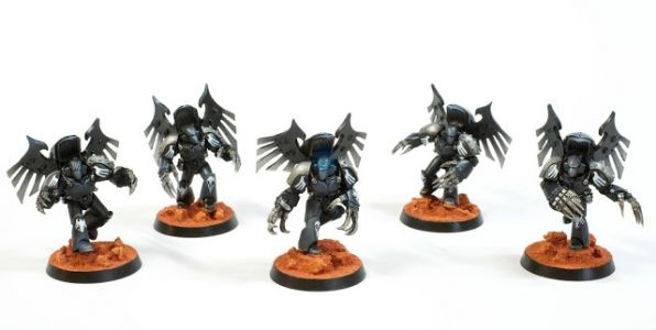 Showcase: Raven Guard Dark Fury Assault Squad & Primaris Librarian by Rich