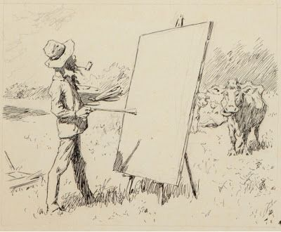 Painting in a Cow Pasture