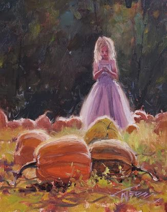 """Autumn Magic"" paintings from the pumpkin patch by Robin Weiss"