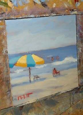 Beach Art Original Oil Painting Heidi Malott