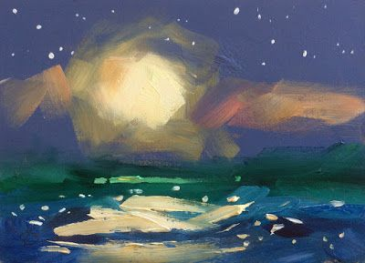 FULL MOON, STARS, WATER by TOM BROWN
