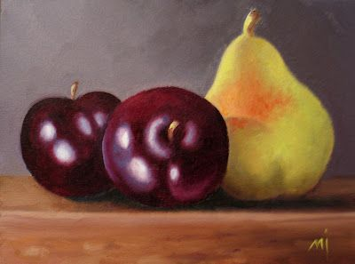 Pear with Plums