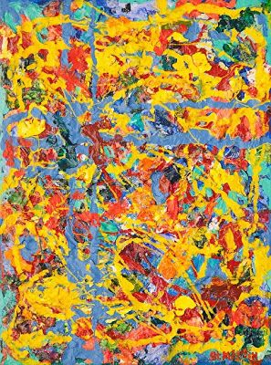 "Abstract Expressionism Painting ""High Energy"" by Florida Impressionism Artist Annie St Martin"