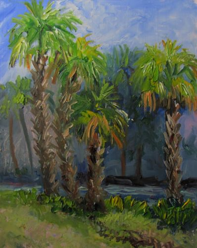 1757 Morning at Becker Park Plein air alla prima